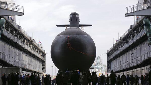 Спуск на воду подводной лодки Кронштадт - Sputnik Latvija