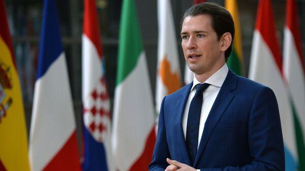 Федеральный канцлер Австрии Себастьян Курц - Sputnik Latvija