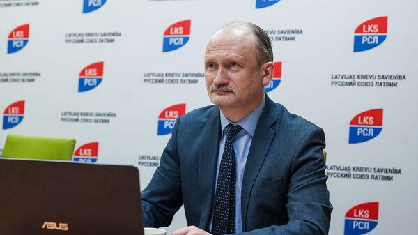 Мирослав Митрофанов, сопредседатель партии Русский союз Латвии - Sputnik Латвия