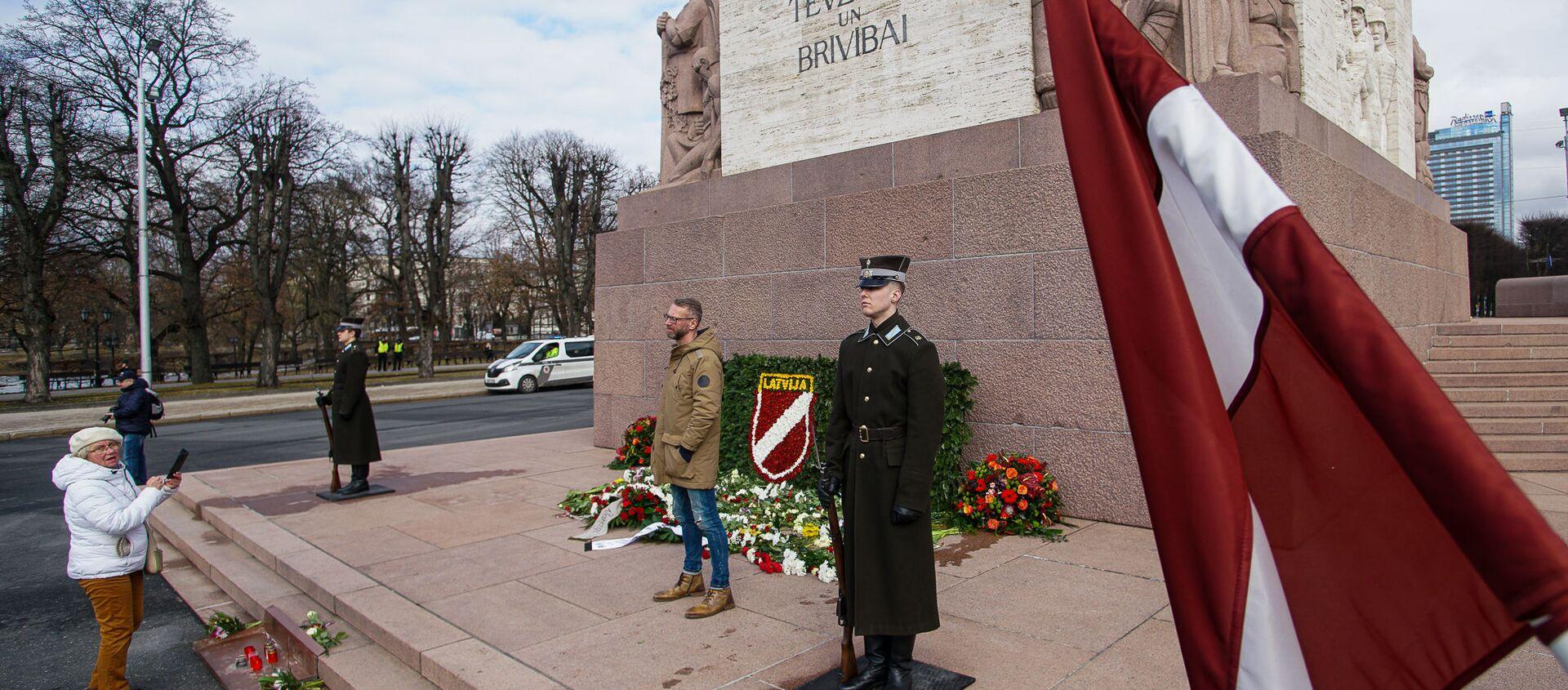 День памяти латышских легионеров Ваффен СС в Риге, 16 марта - Sputnik Латвия, 1920, 16.03.2021