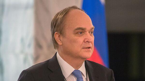 Посол РФ в США Анатолий Антонов на избирательном участке в посольстве РФ в Вашингтоне. - Sputnik Латвия