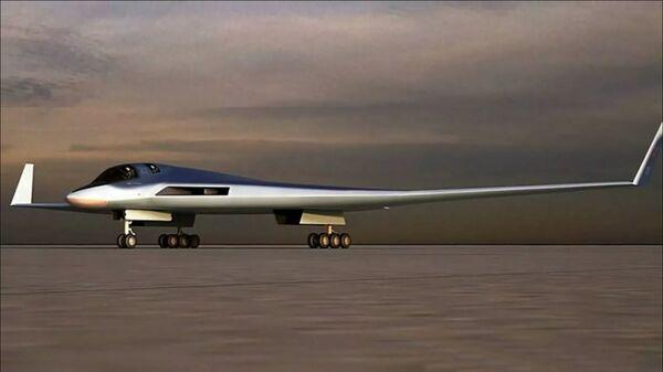 Эскиз перспективного авиационного комплекса дальней авиации (ПАК ДА) - Sputnik Latvija
