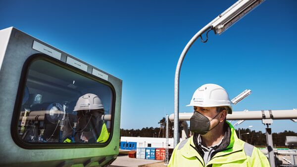 Строительство газопровода Северный поток - 2 в Германии - Sputnik Latvija