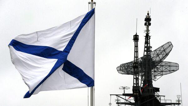 Андреевский флаг на корабле Балтийского флота - Sputnik Latvija