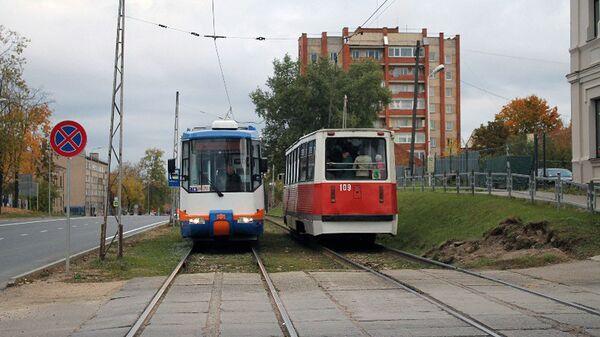 Трамвай на улице, в Даугавпилсе - Sputnik Латвия
