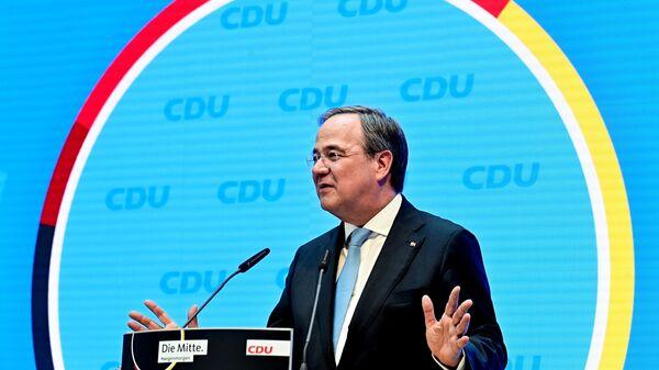 Глава Христианско-демократического союза (ХДС) Германии, премьер-министр земли Северный Рейн - Вестфалия Армин Лашет - Sputnik Латвия