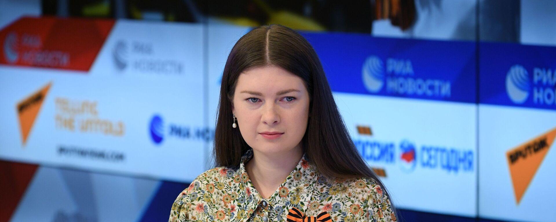 Пресс-конференция, посвященная началу акции Георгиевская ленточка - Sputnik Latvija, 1920, 28.04.2021