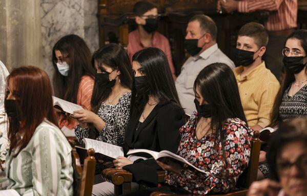 Пасхальное богослужение в Газе  - Sputnik Латвия