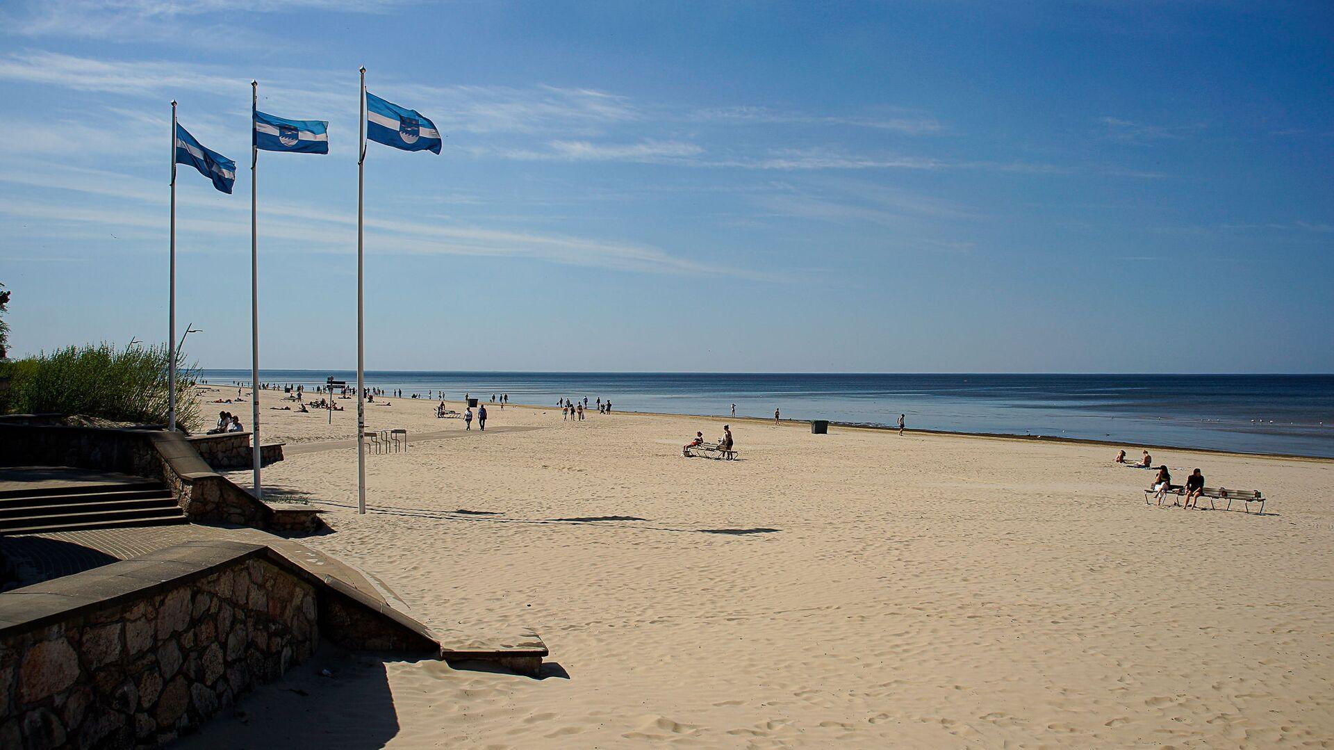 Пляж в Юрмале - Sputnik Латвия, 1920, 20.06.2021