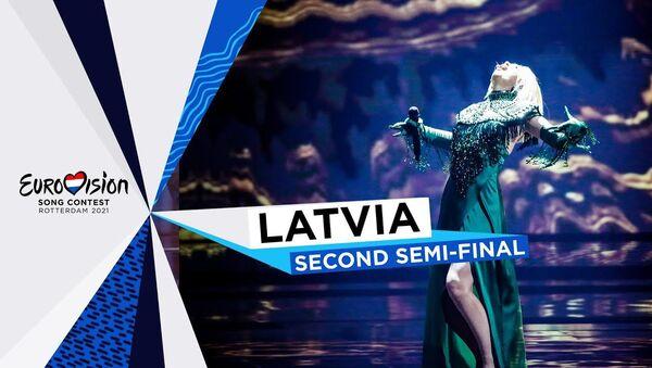 Выступление Саманты Тины во втором полуфинале Евровидения - Sputnik Latvija