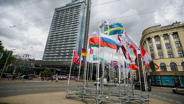 Флаги стран-участниц чемпионата мира по хоккею 2021 - Sputnik Латвия
