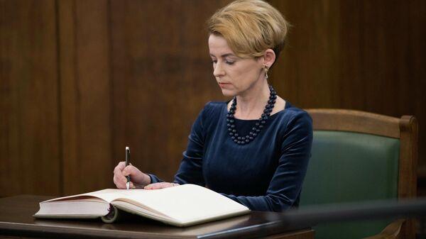Министр внутренних дел Латвии Мария Голубева - Sputnik Латвия