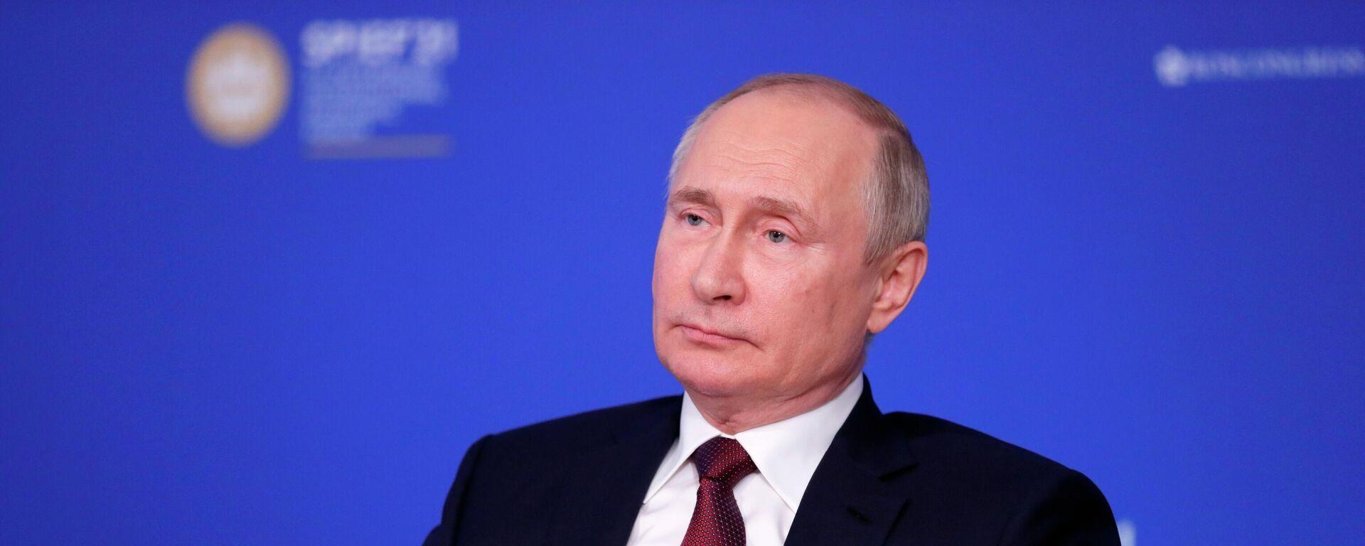 Президент РФ В. Путин провел встречу с руководителями ведущих мировых информационных агентств - Sputnik Латвия, 1920, 13.06.2021