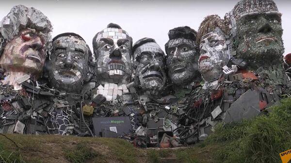 Художник так видит: лидерам Большой семерки показали их мусорные копии - Sputnik Latvija