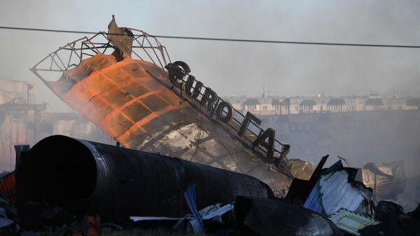 Пожар на АЗС в Новосибирске - Sputnik Латвия
