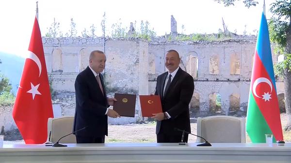 Встреча в Шуше: о чем договорились Алиев и Эрдоган - Sputnik Латвия