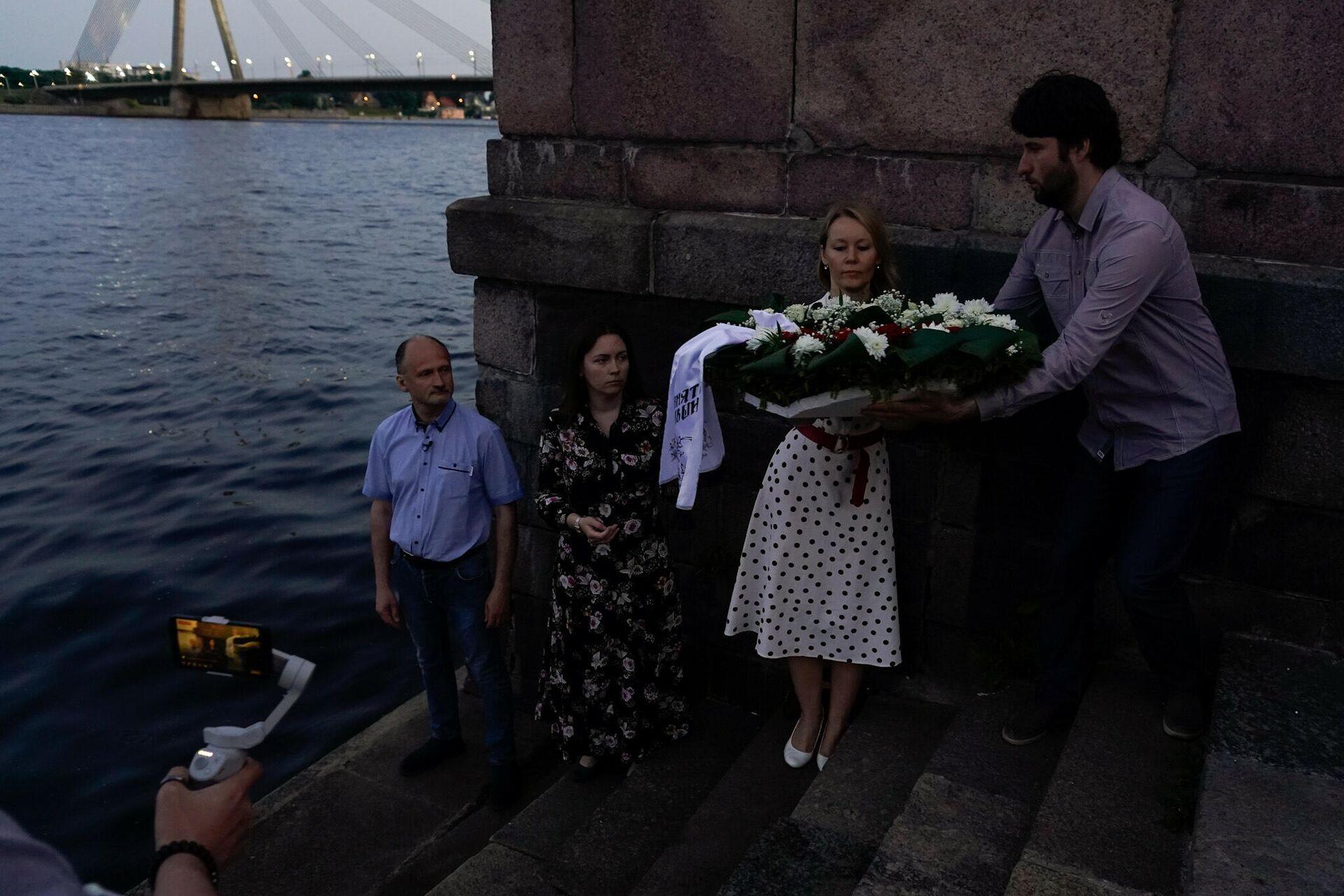 Акция Русского союза Латвии в память о 80-летии начала Великой Отечественной войны - Sputnik Латвия, 1920, 22.06.2021