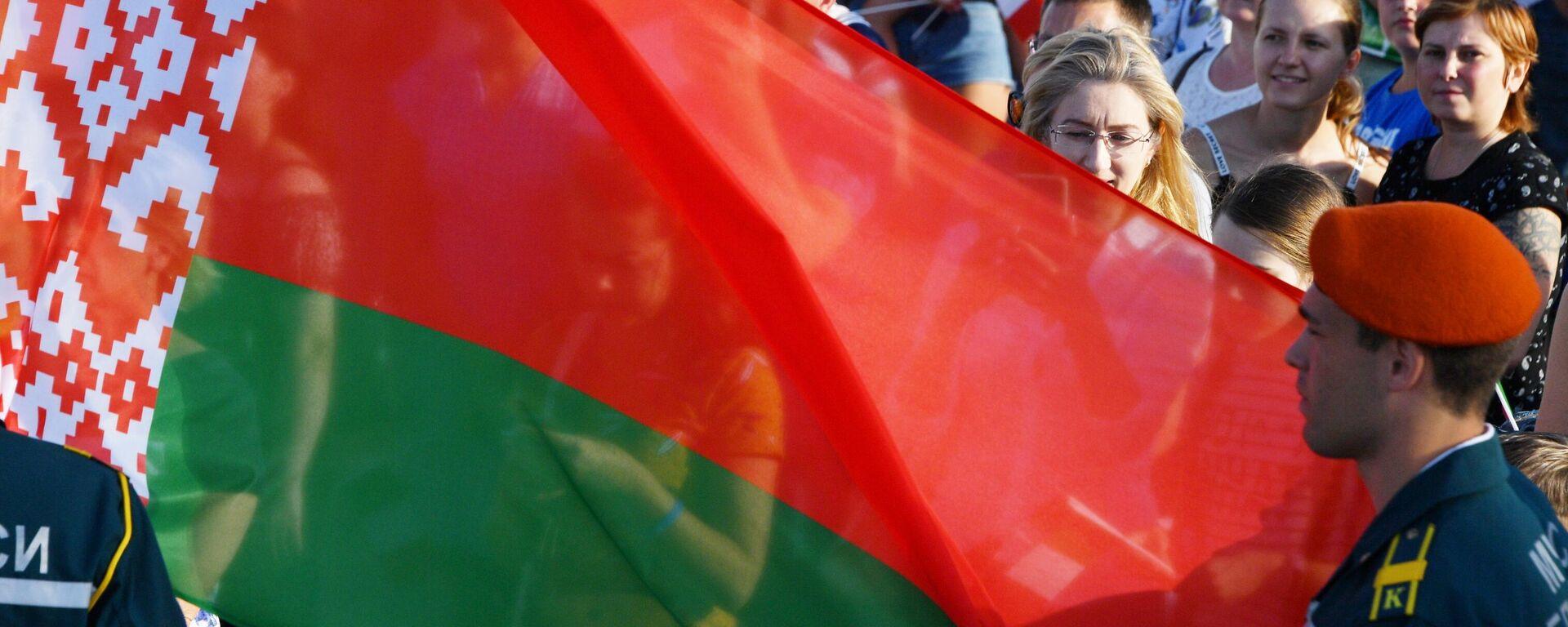 Государственный флаг Беларуси, архивное фото - Sputnik Латвия, 1920, 22.06.2021