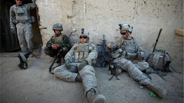 Военнослужащие США и Афганистана в провинции Кандагар - Sputnik Latvija