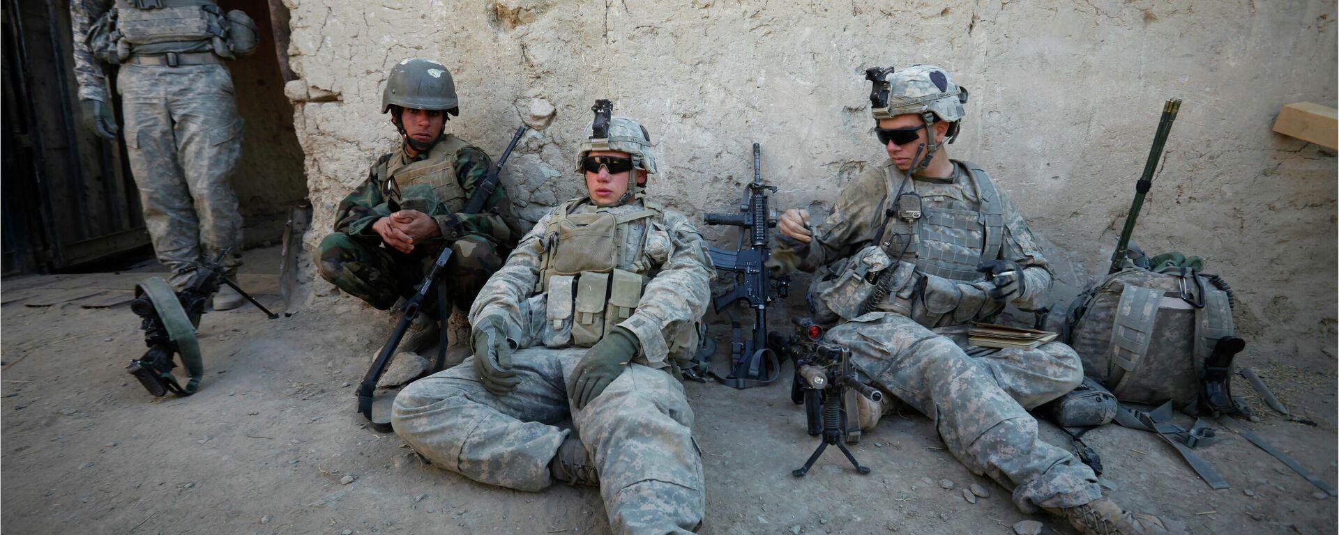 Военнослужащие США и Афганистана в провинции Кандагар - Sputnik Latvija, 1920, 31.08.2021