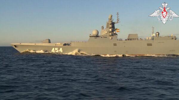 Фрегат Адмирал Горшков успешно произвел выстрел гиперзвуковой ракетой Циркон - Sputnik Latvija