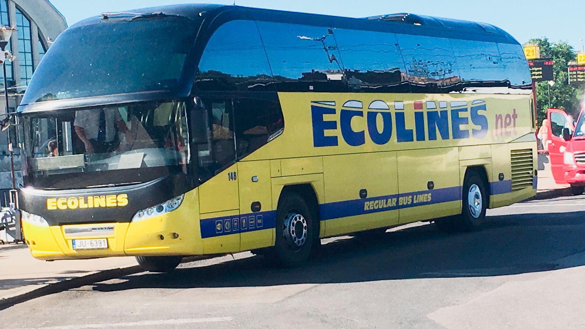 Автобус  ECOLINES - Sputnik Латвия, 1920, 28.07.2021