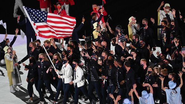 ASV sportisti XXXII Olimpisko spēļu atklāšanas ceremonijā Tokijā  - Sputnik Latvija
