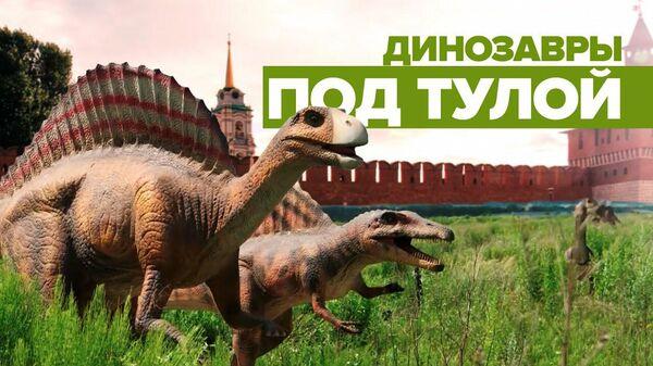 Динозавры притулились: недостроенный парк аттракционов под Тулой стал популярен в интернете  - Sputnik Latvija