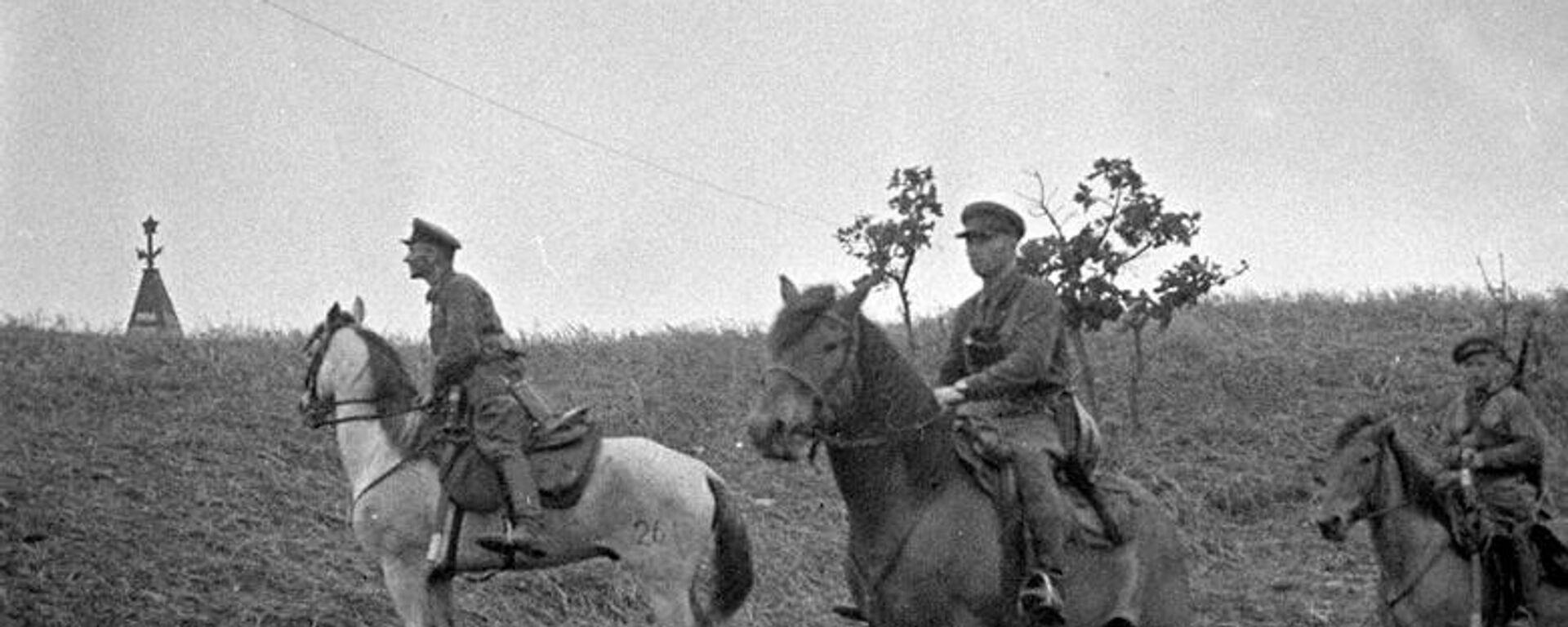 Наряд советских пограничников в районе озера Хасан. 1938 год - Sputnik Latvija, 1920, 06.09.2021