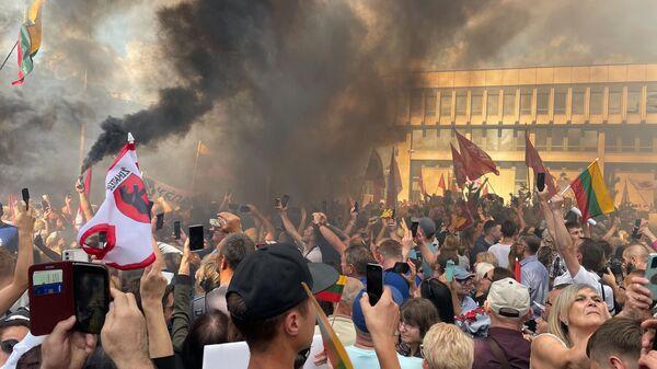 Митинг у здания Сейма Литвы - Sputnik Latvija