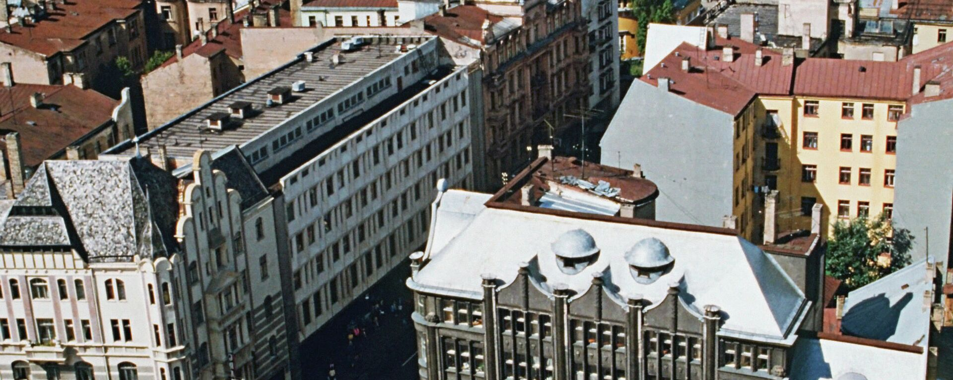 Панорама города Рига в Латвии, 1990 год - Sputnik Латвия, 1920, 19.09.2021