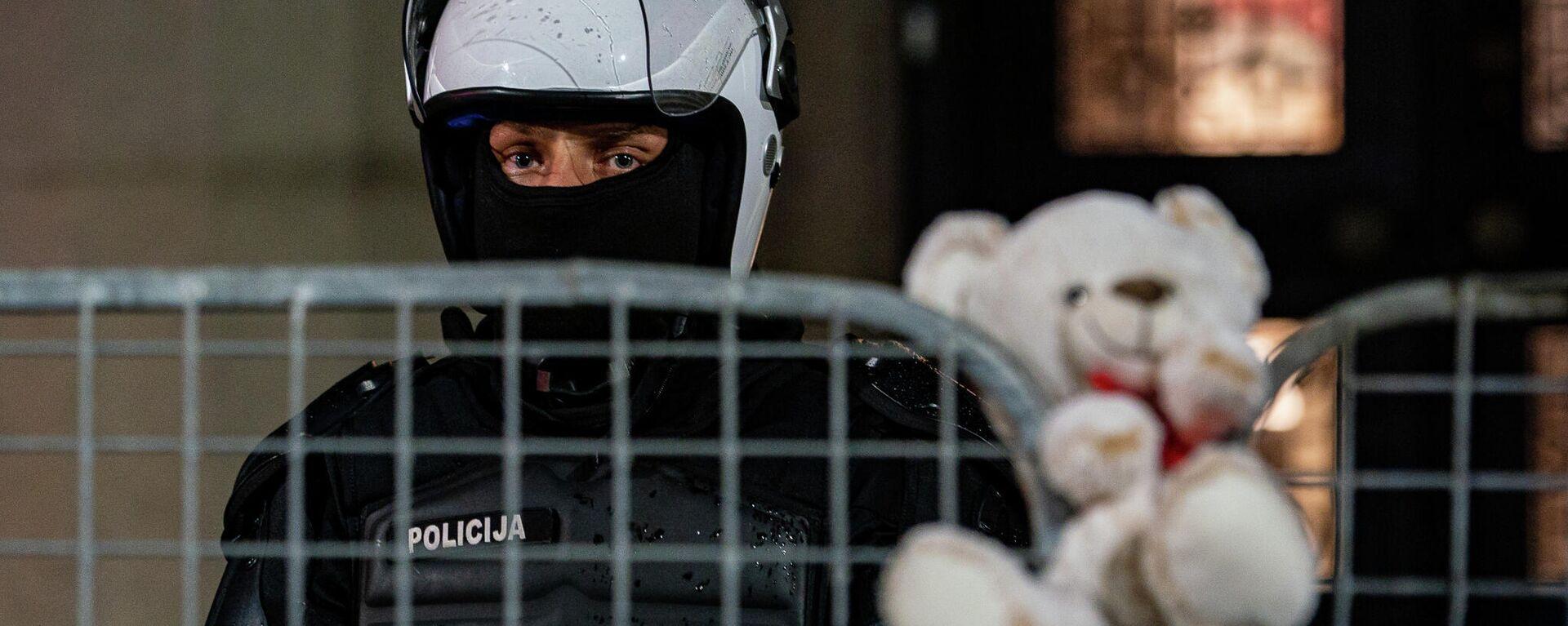Акция протеста против обязательной вакцинации в Риге, 18 августа - Sputnik Латвия, 1920, 28.08.2021