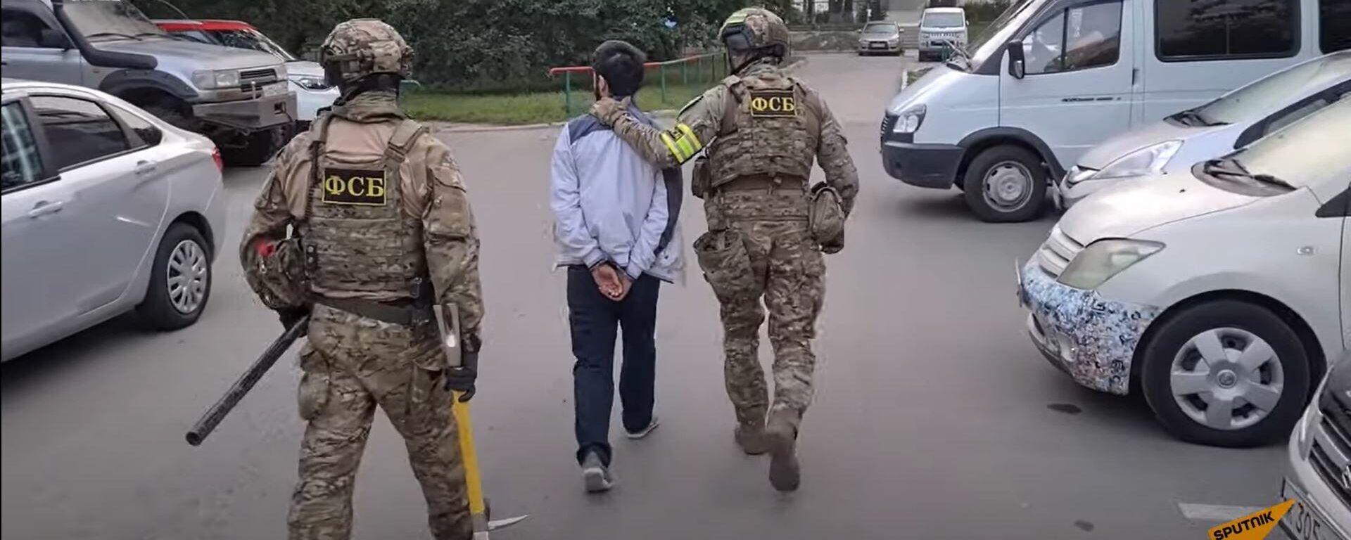ФСБ вычислила 31 вербовщика террористов: кадры задержания - Sputnik Латвия, 1920, 25.08.2021