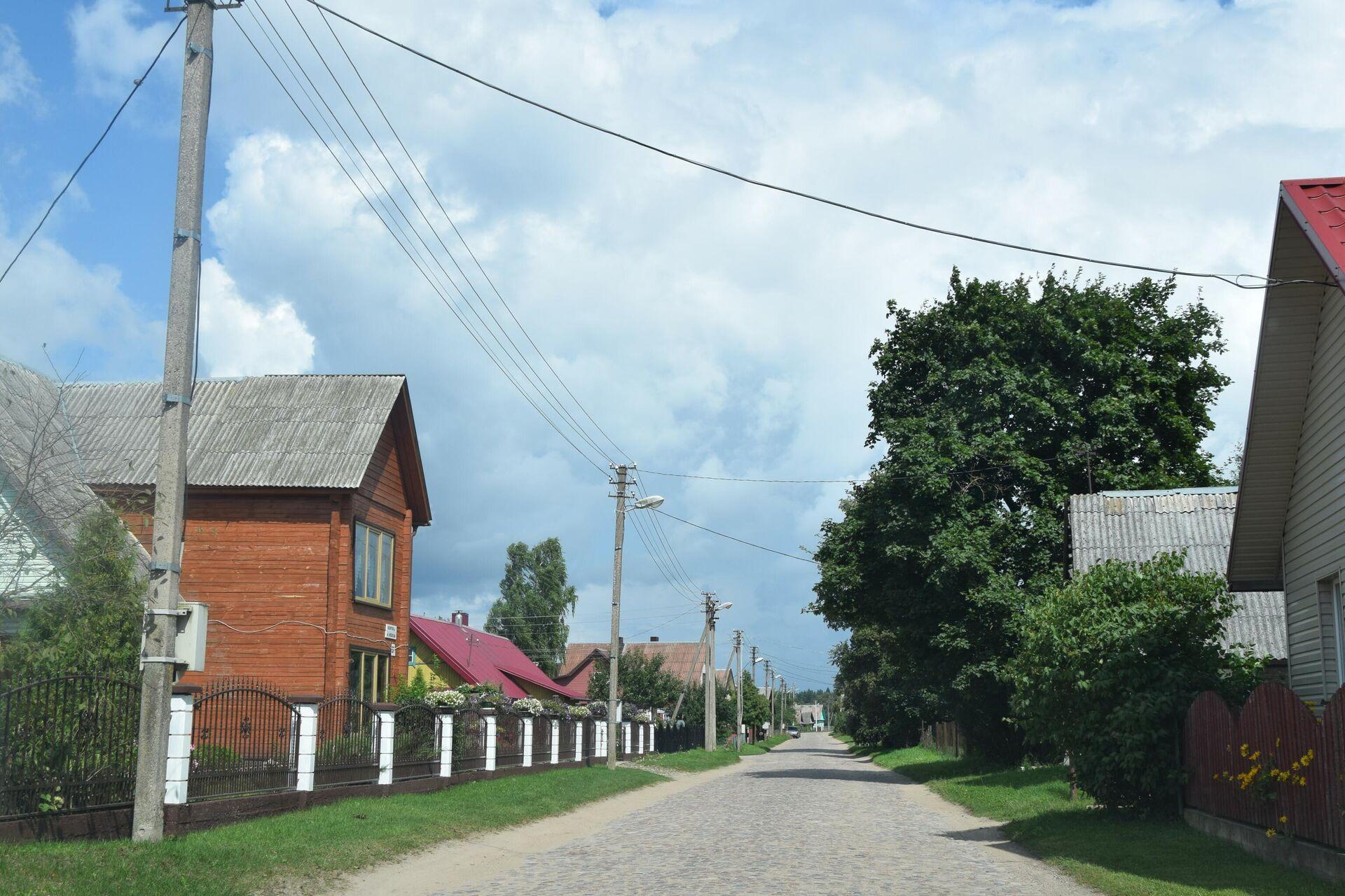 Улица в деревне Руднинкай в Шальчининкайском районе Литвы - Sputnik Латвия, 1920, 30.08.2021