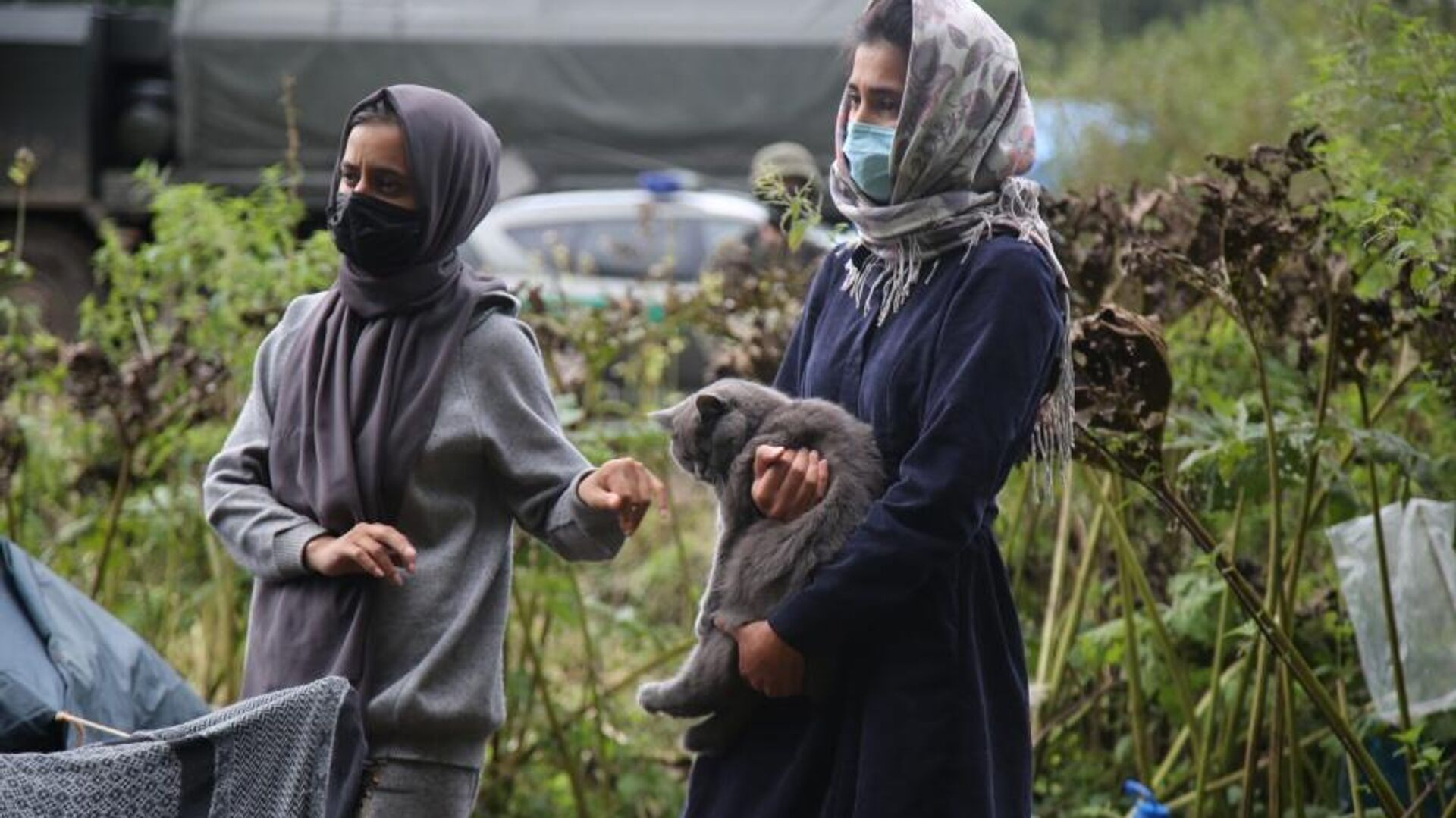 Афганские беженцы на польско-белорусской границе, 1 сентября 2021 года - Sputnik Латвия, 1920, 10.09.2021