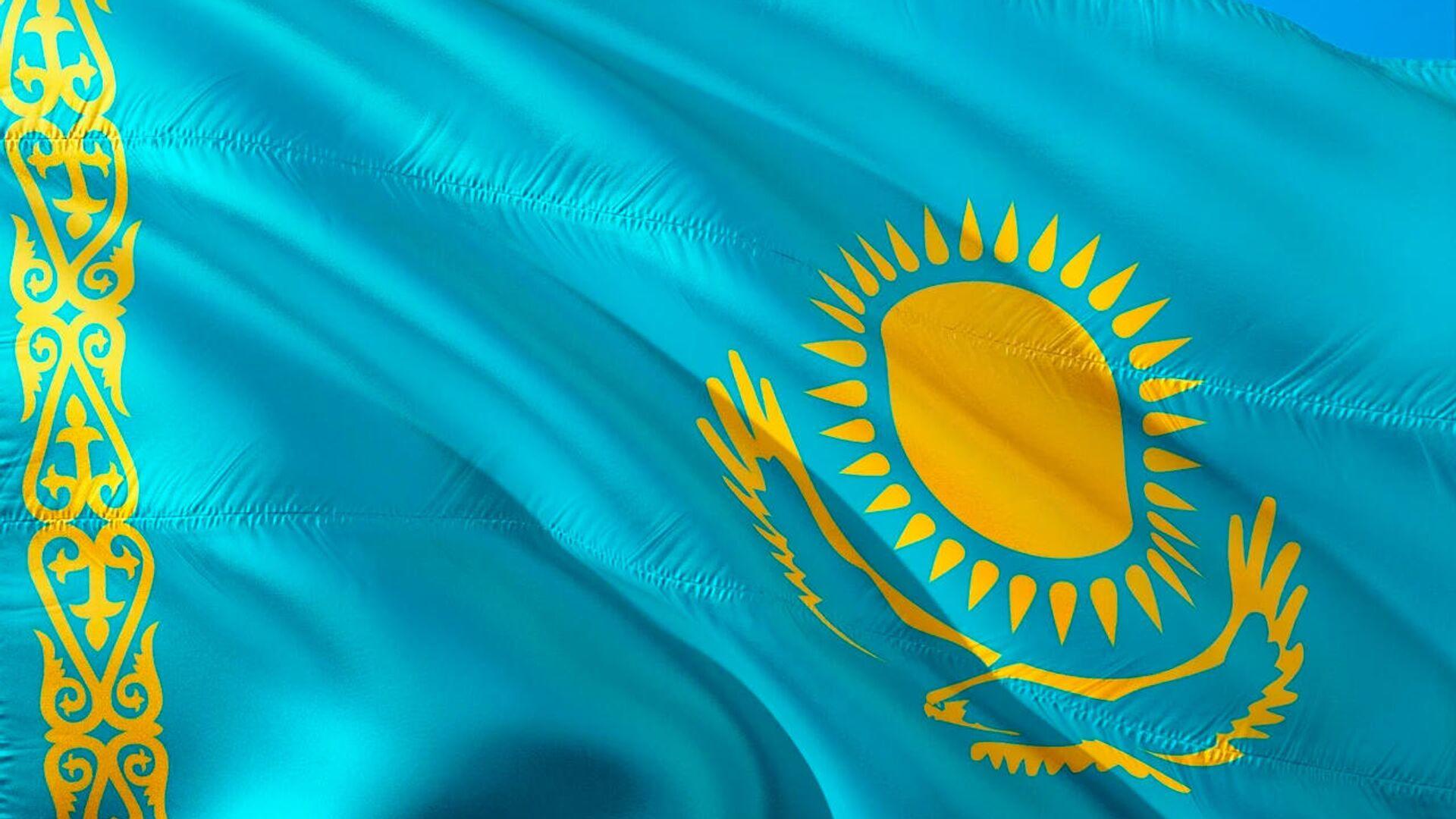 Флаг республики Казахстан - Sputnik Латвия, 1920, 01.09.2021