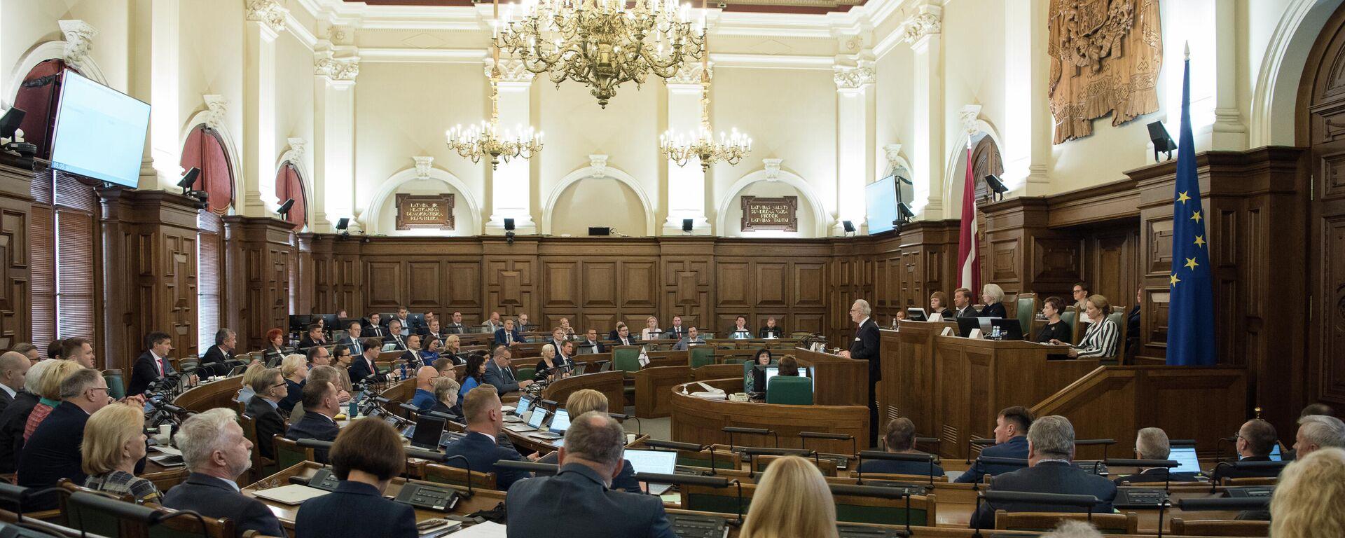 Первое очное заседание Сейма, 2 сентября 2021 года - Sputnik Латвия, 1920, 03.09.2021
