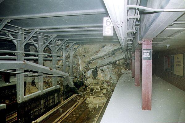 Станция Cortland Street (линия Бродвея и Седьмой авеню) под Всемирным торговым центром.  - Sputnik Латвия