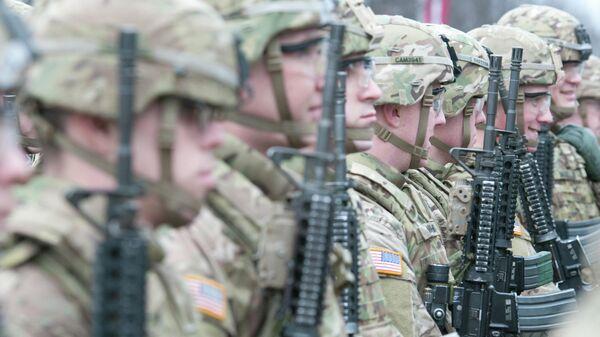 Американские военные во время учений в Риге. Архивное фото  - Sputnik Латвия