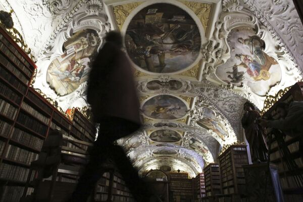 Strahovas klostera bibliotēka Prāgā, Čehija - Sputnik Latvija