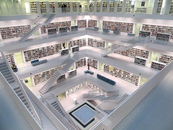 Štutgartes pilsētas bibliotēka celta 2011. gadā - Sputnik Latvija