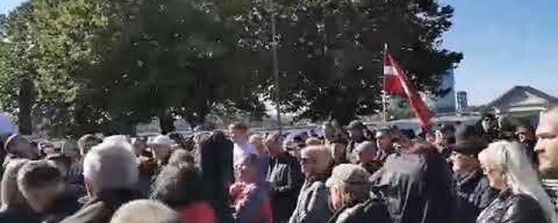 Масштабная акция протеста у Рижского замка: люди против террора правительства - Sputnik Латвия, 1920, 18.09.2021