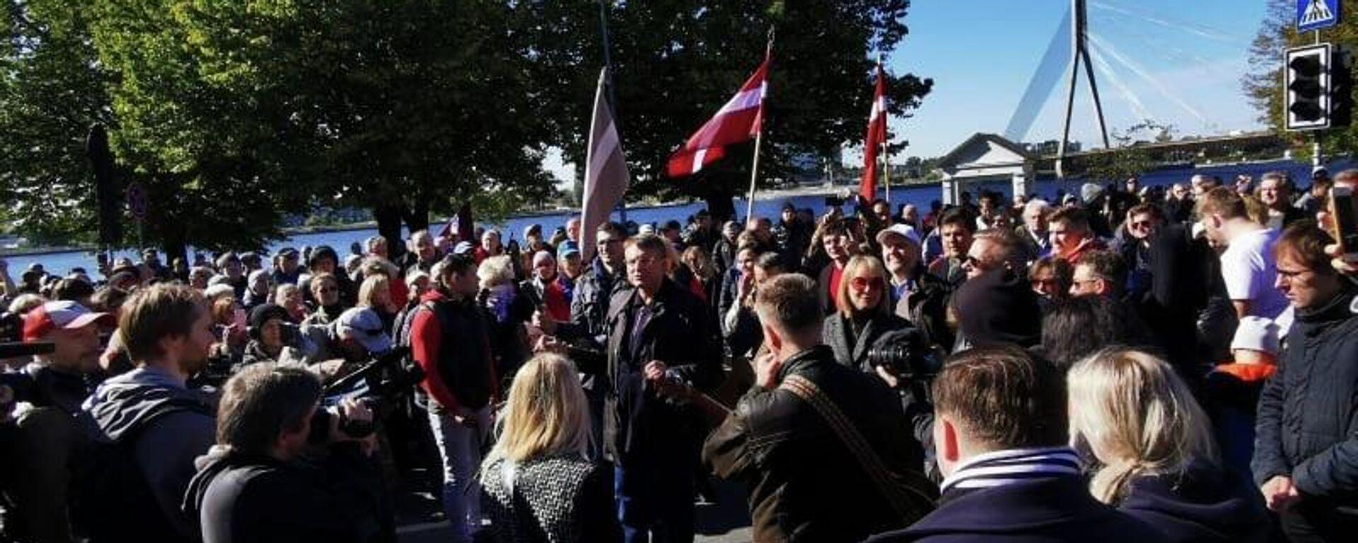Protesta akcija pie Rīgas pils - Sputnik Latvija, 1920, 27.09.2021