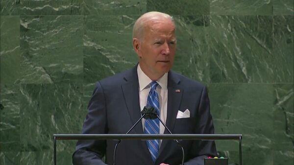 Президент США Джо Байден допустил ошибку, выступая во вторник на 76-й сессии Генеральной Ассамблеи ООН - Sputnik Latvija