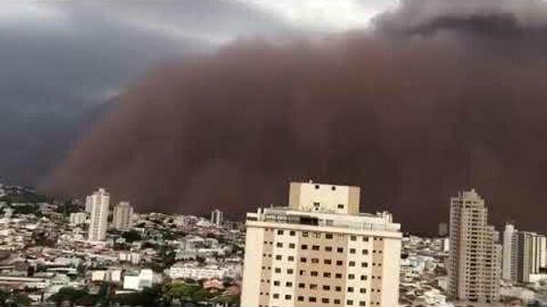 Пыльная буря в Бразилии - Sputnik Latvija