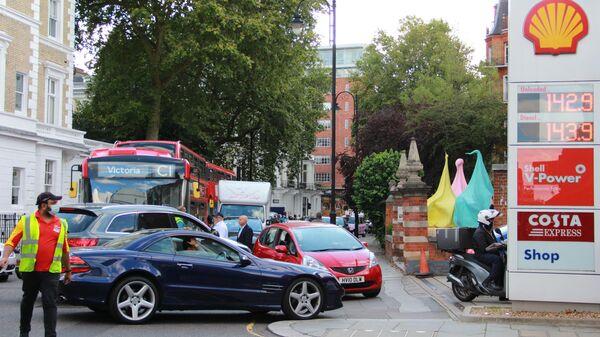 Перебои в поставках топлива на АЗС в Лондоне - Sputnik Латвия