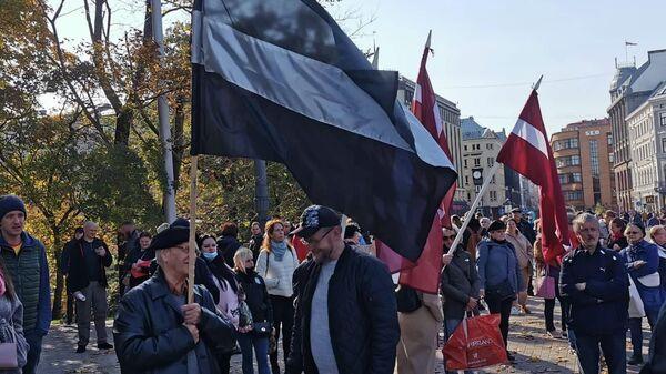 Субботняя акция протеста в Риге - Sputnik Латвия