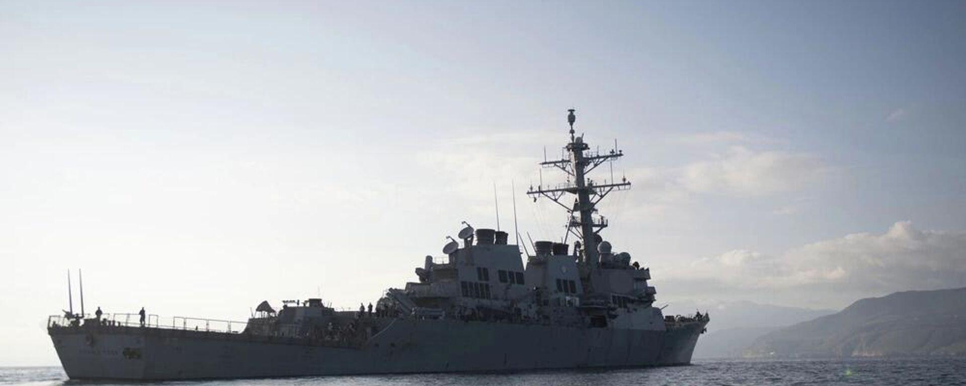 Американский военный эскадренный миноносец USS Donald Cook у берегов Греции - Sputnik Latvija, 1920, 08.10.2021