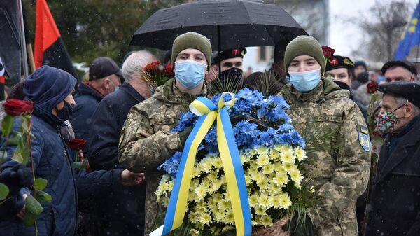 Акция националистов на Украине - Sputnik Латвия