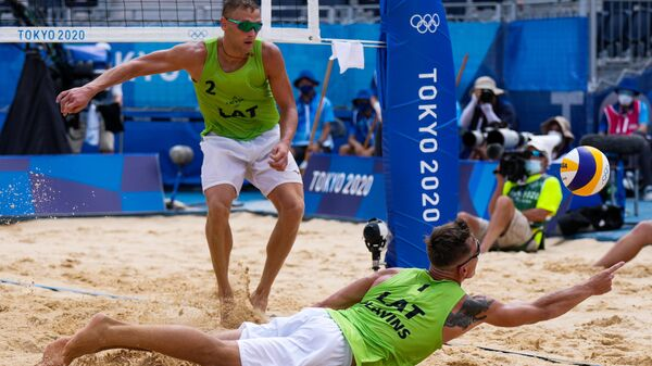 Олимпиада-2020. Пляжный волейбол. Мужчины. Матч за третье место - Sputnik Латвия